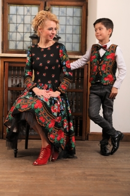 Set Mama Fiu Traditional-Elegant – Negru