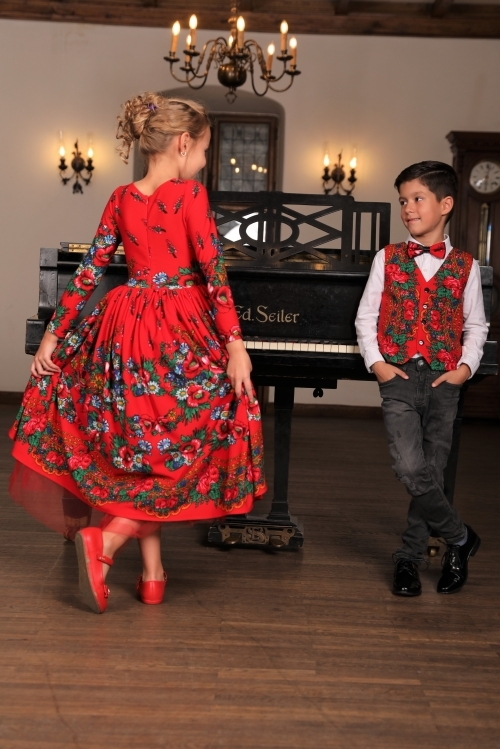 Set Frate & Sora Traditional-Elegant – Rosu